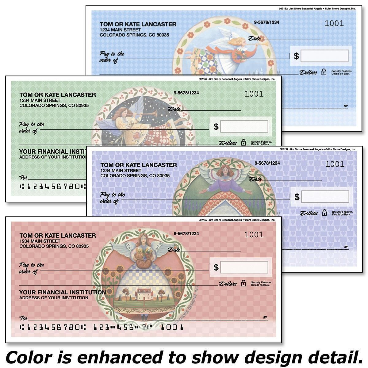 Seasonal Angels  by Jim Shore Design Studio™ Duplicate Checks