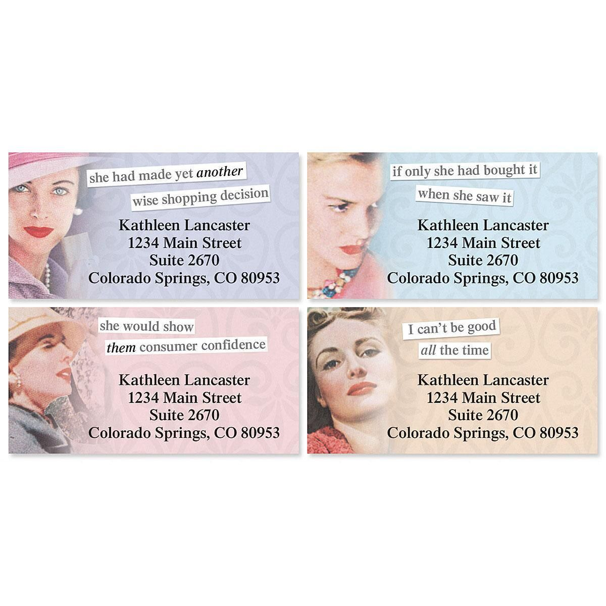 Anne Taintor Border Address Labels  (4 designs)