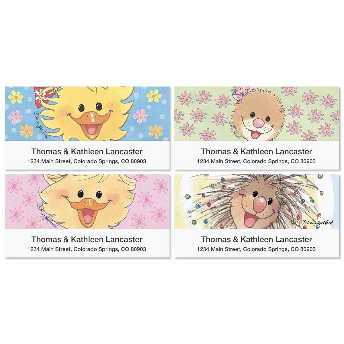 Suzy's Smiles by Suzys Zoo®  Deluxe Address Labels  (4 designs)