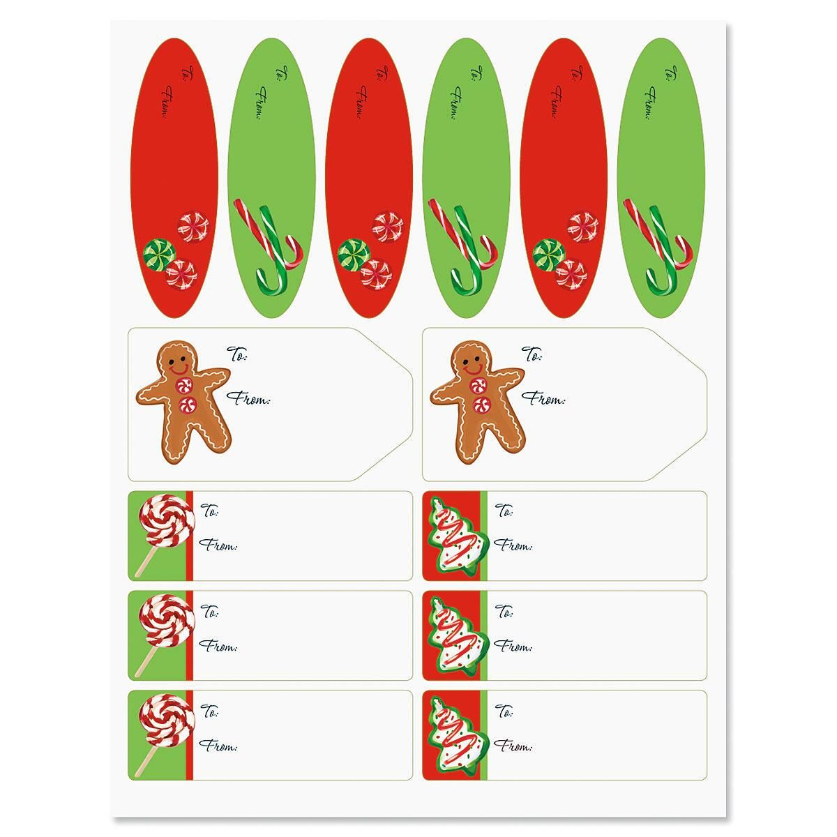 Christmas Candy Matching Self-Stick Labels