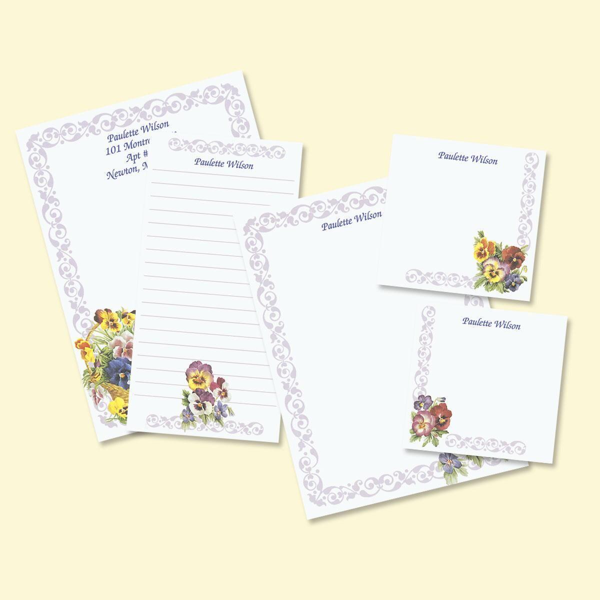 Pansy Notepad Set