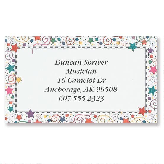 Confetti Designer Calling Cards