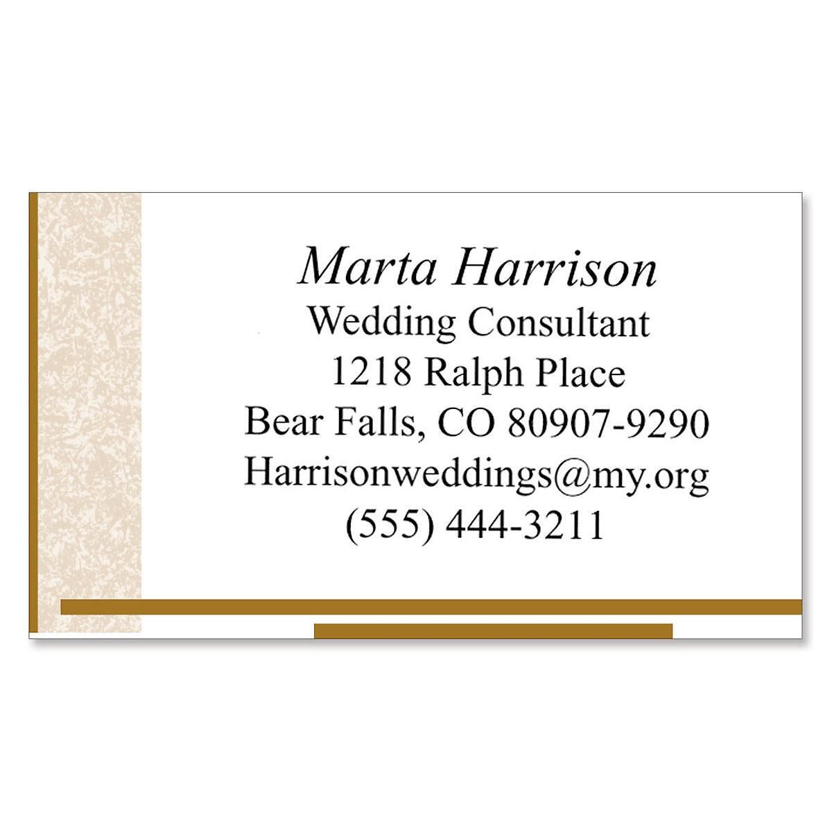Tan Marble Designer Calling Cards