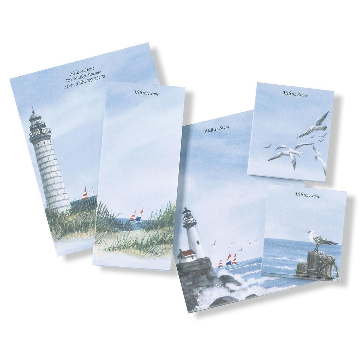 Lighthouse Notepad Set