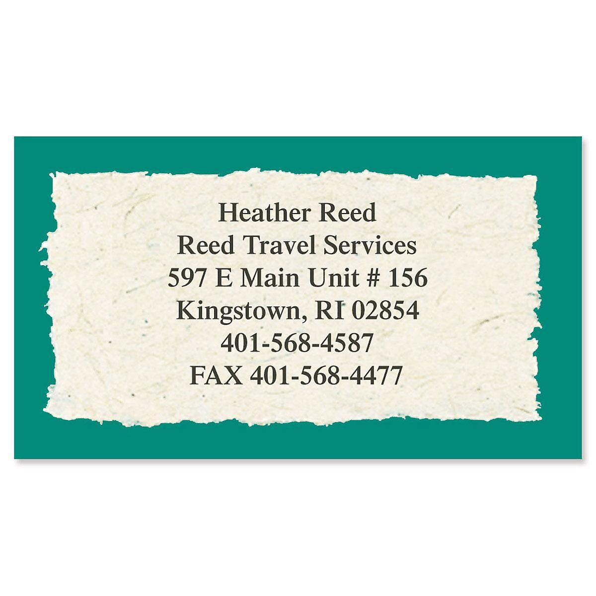 Natural Look Designer Business Cards