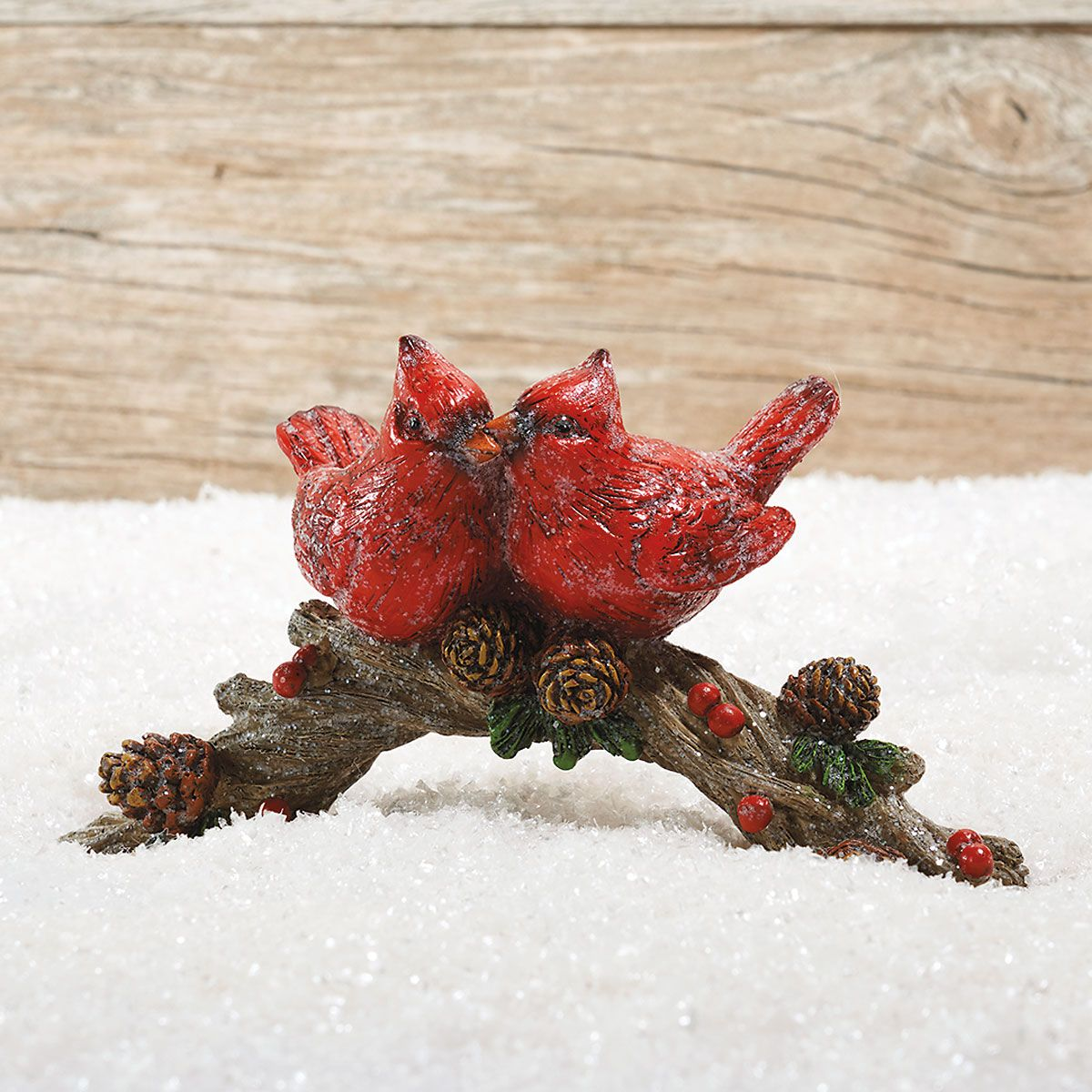 Perched Cardinal Figurine
