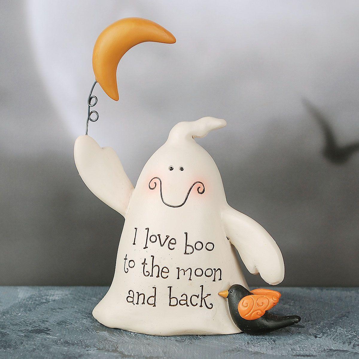 I Love Boo Halloween Ghost Figurine