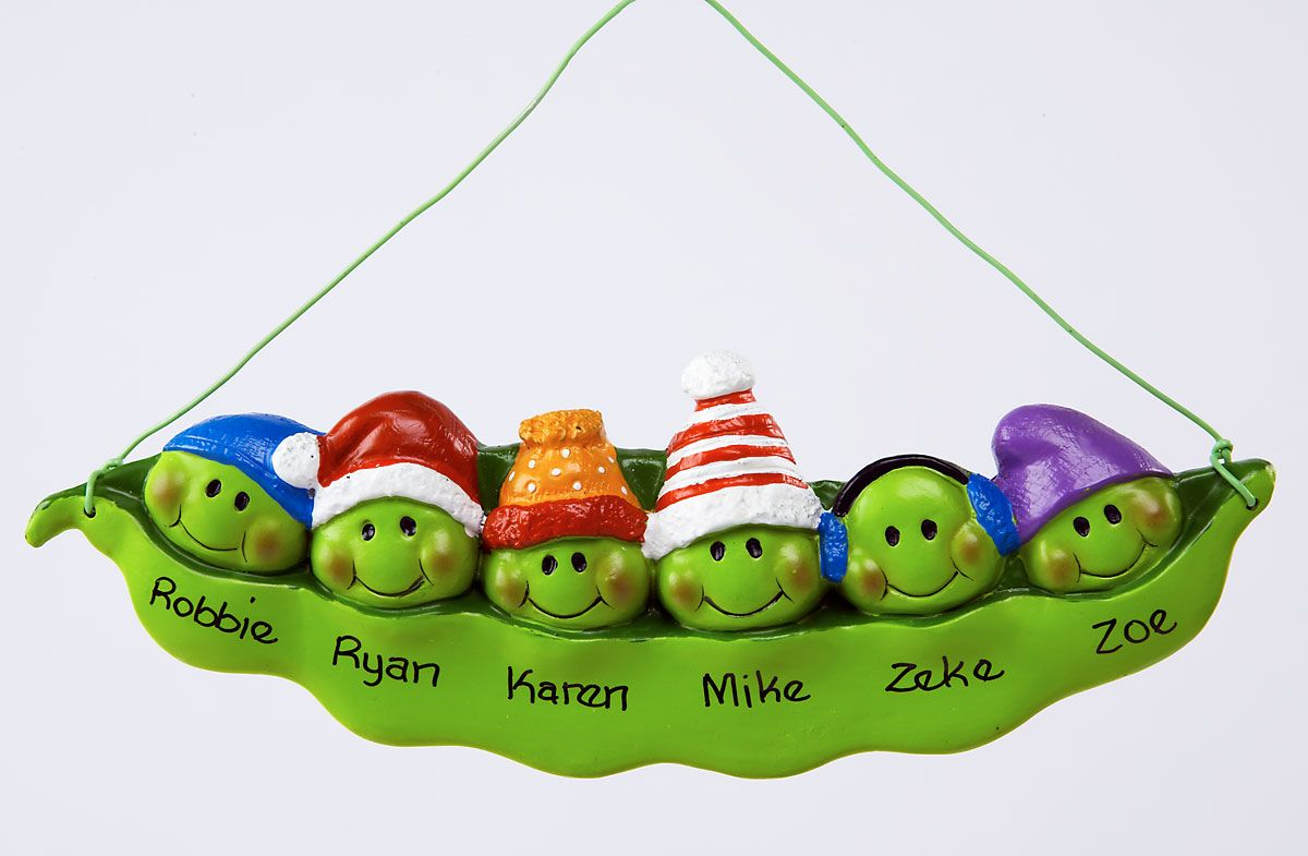 6 Peas in a Pod Ornament