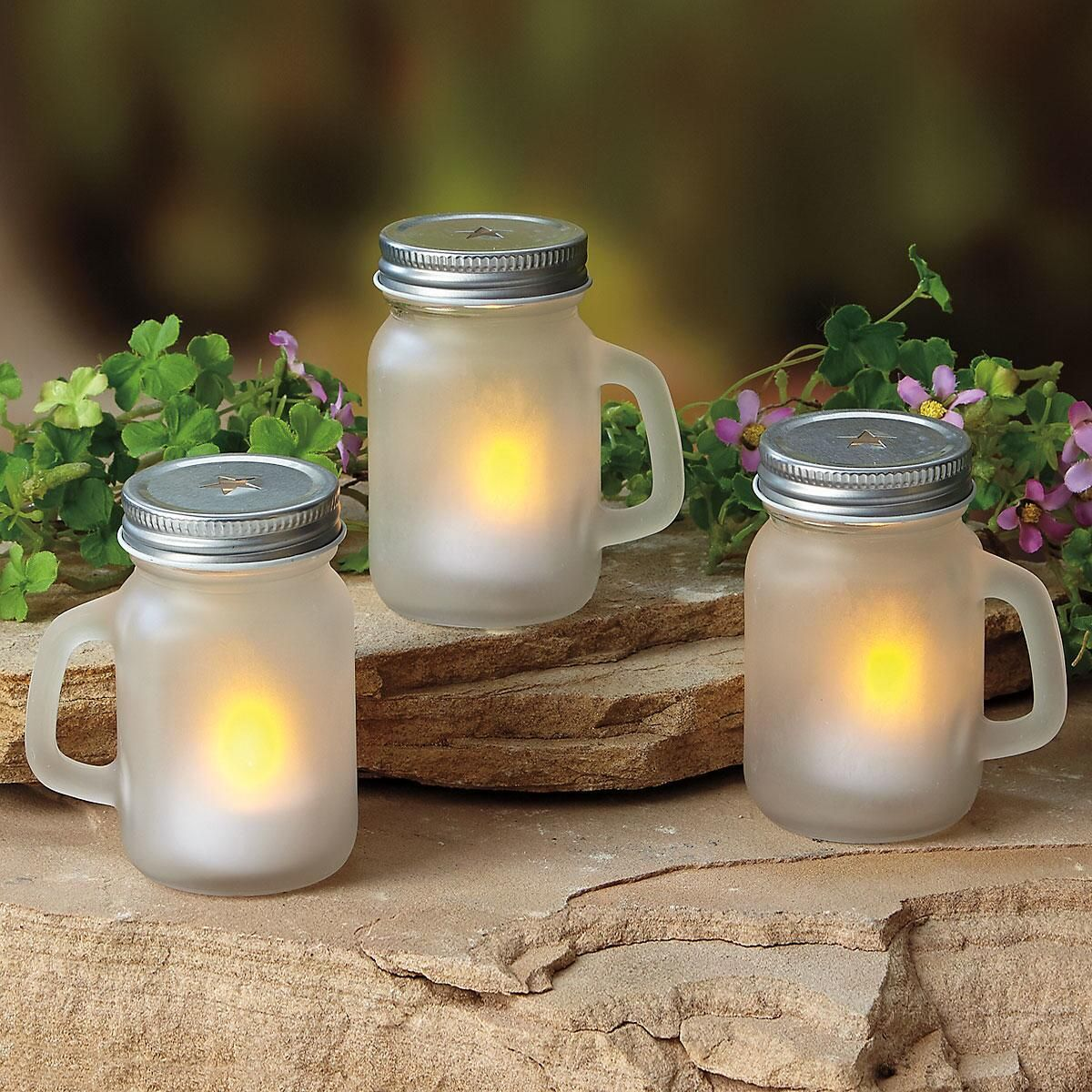 Mini Mason Jar LED Tealights