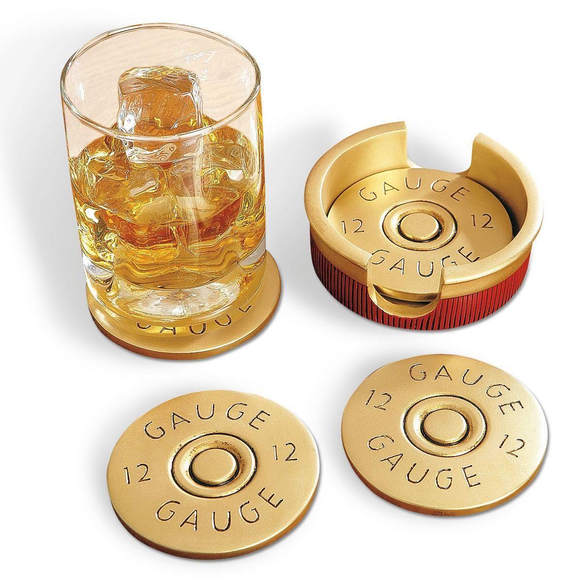 Bullet Cap 12-Gauge Coasters