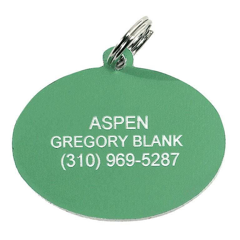 Oval Plastic Personalized Pet Tag