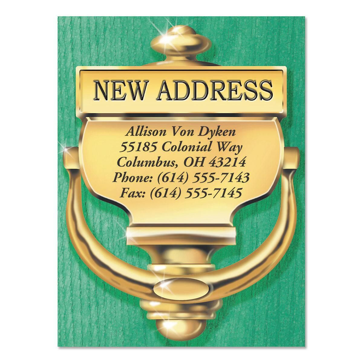 Door Knocker New Address Postcards