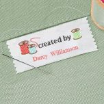 Created By Sewing Label