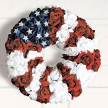 Patriotic Roses Wreath