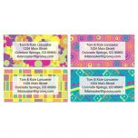 Feeling Groovy  Deluxe Address Labels  (4 designs)