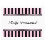 Pink & Black Note Cards