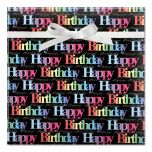 Rainbow Birthday Jumbo Rolled Gift Wrap