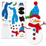Decorate-a-Snowman Sticker Sheets