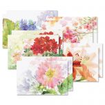 Watercolor Garden Note Card Value Pack