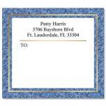 Blue Granite Foil Package Label