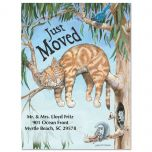 Moving Cat Fun Postcard