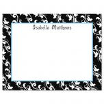 Black Elegance Personalized Correspondence Cards