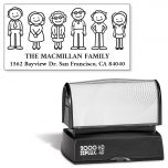 Our Family Pre-Inking Address Stamper