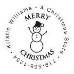 Snowman Family Christmas Round Stampers