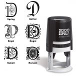 Center Monogram Round Self-Inking Address Stamp