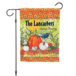 Harvest Blessing Fall Personalized Garden Flag