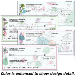 Sketched Flowers Single Checks