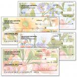 Watercolor Garden Checks