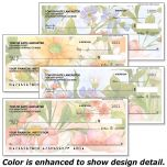 Watercolor Garden Checks