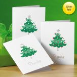 Trendy Tree Foil Thank You Cards Buy 1 Get 1 Free