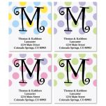 Initial Polka Dot Select Address Labels  (4 designs)
