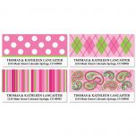 Pink Patterns Deluxe Address Labels  (4 designs)