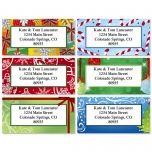 Holiday Border Address Labels  (6 designs)