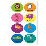 Playful Personalized Animal Labels for Kids