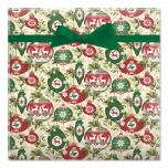 Ornaments on Garland Jumbo Rolled Gift Wrap