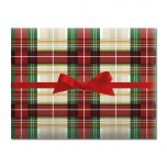 Classic Plaid Jumbo Rolled Gift Wrap