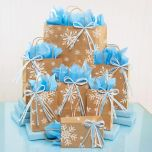 Kraft Snowflake Gift Bag Set