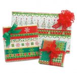 Happy Holly Days Folded Gift Wrap