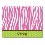 Pink Zebra Note Cards