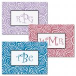 Framed Monogram Personalized Note Cards