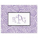 Framed Monogram Note Cards