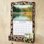 Leaves Wire Metal Calendar Holder
