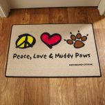 Peace Love & Muddy Paws Doormat