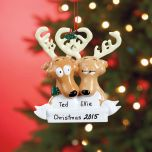 Reindeer  (Moose) Family Ornament