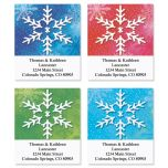 Snowflake Address Labels  (4 designs)