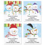 Happy Snowman Address Labels  (4 designs)